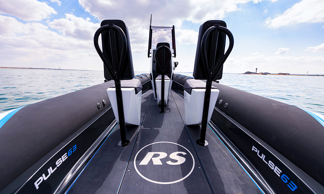 Electric Boat - Pulse 63 RIB - RS Electric Boats - Rear Seat View