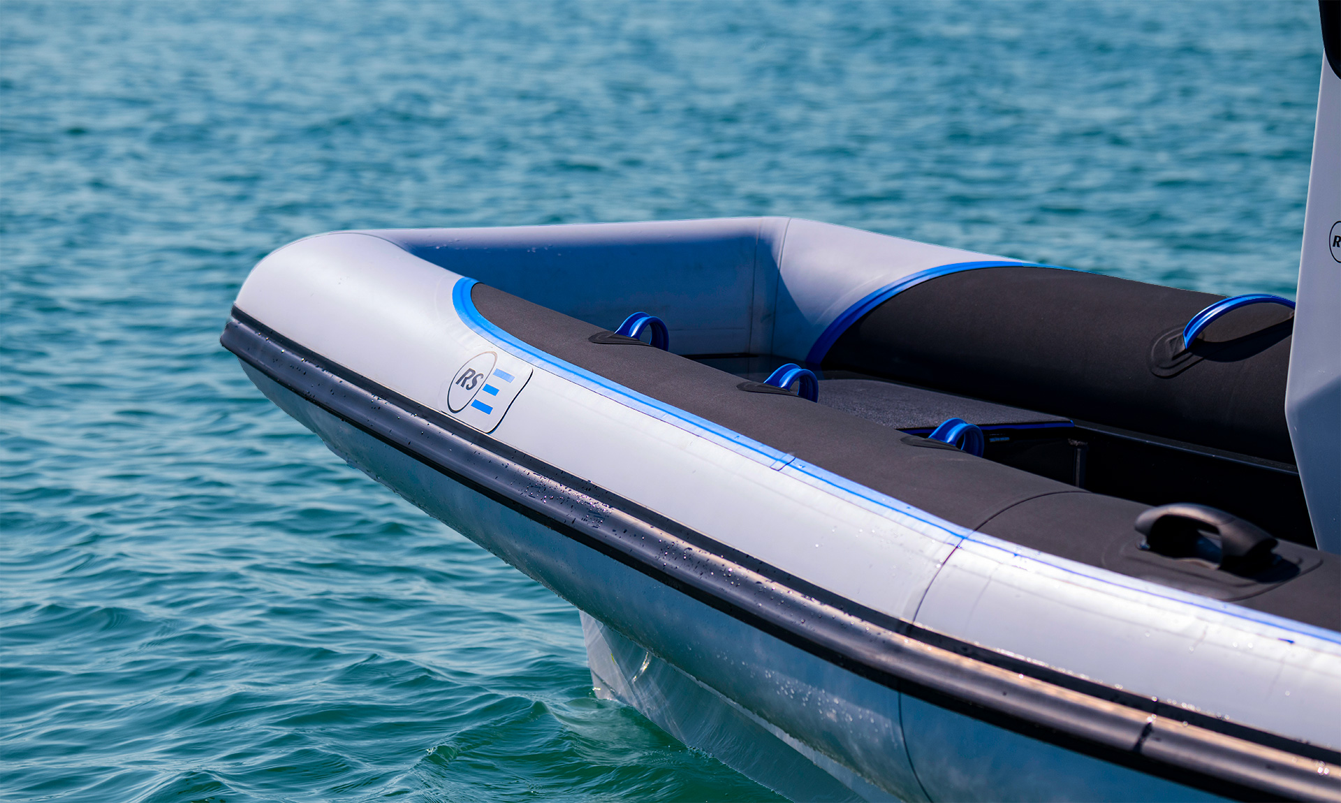 Electric Boat - Pulse 63 RIB - RS Electric Boats - Side bow view