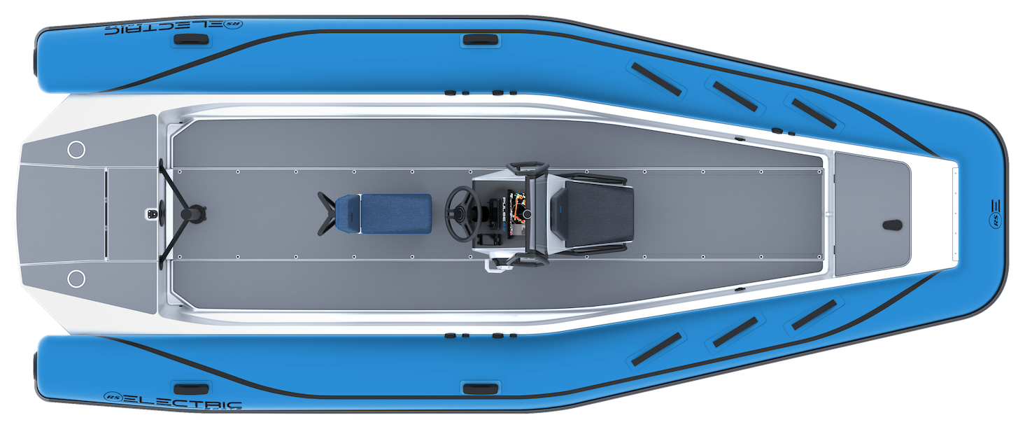 Electric Coaching RIB - Pulse 63 - RS Electric Boats - Blue Plan View