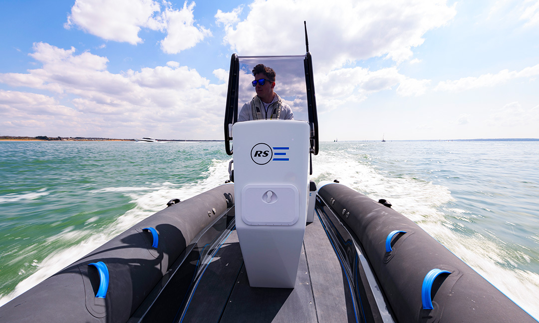 Electric Commercial Boat - Pulse 63 RIB - RS Electric Boats - Front view RSE