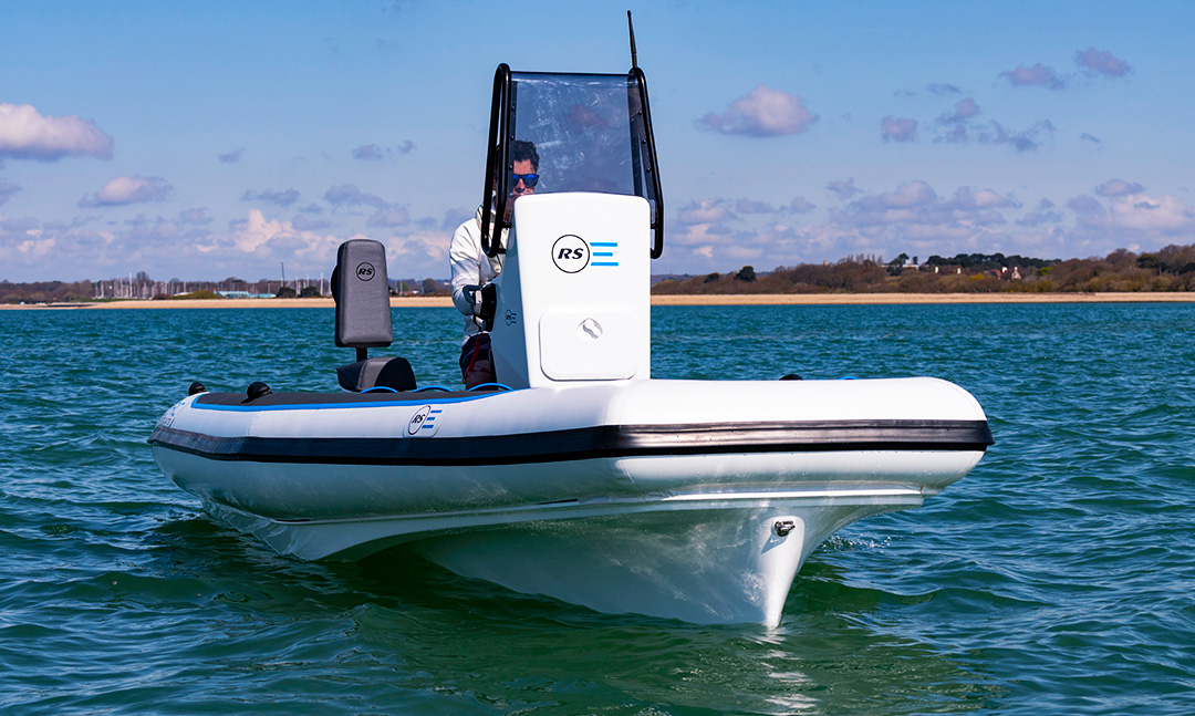 Electric ECO Boat - Pulse 63 RIB - RS Electric Boats - Front side view